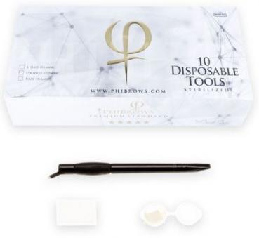 PhiBrows Disposable Tools 18 U Classic 10pcs Box