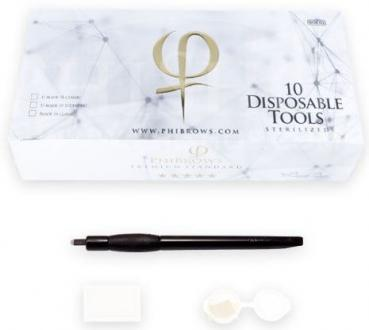 PhiBrows Disposable Tools 18 Eccentric 10pcs Box